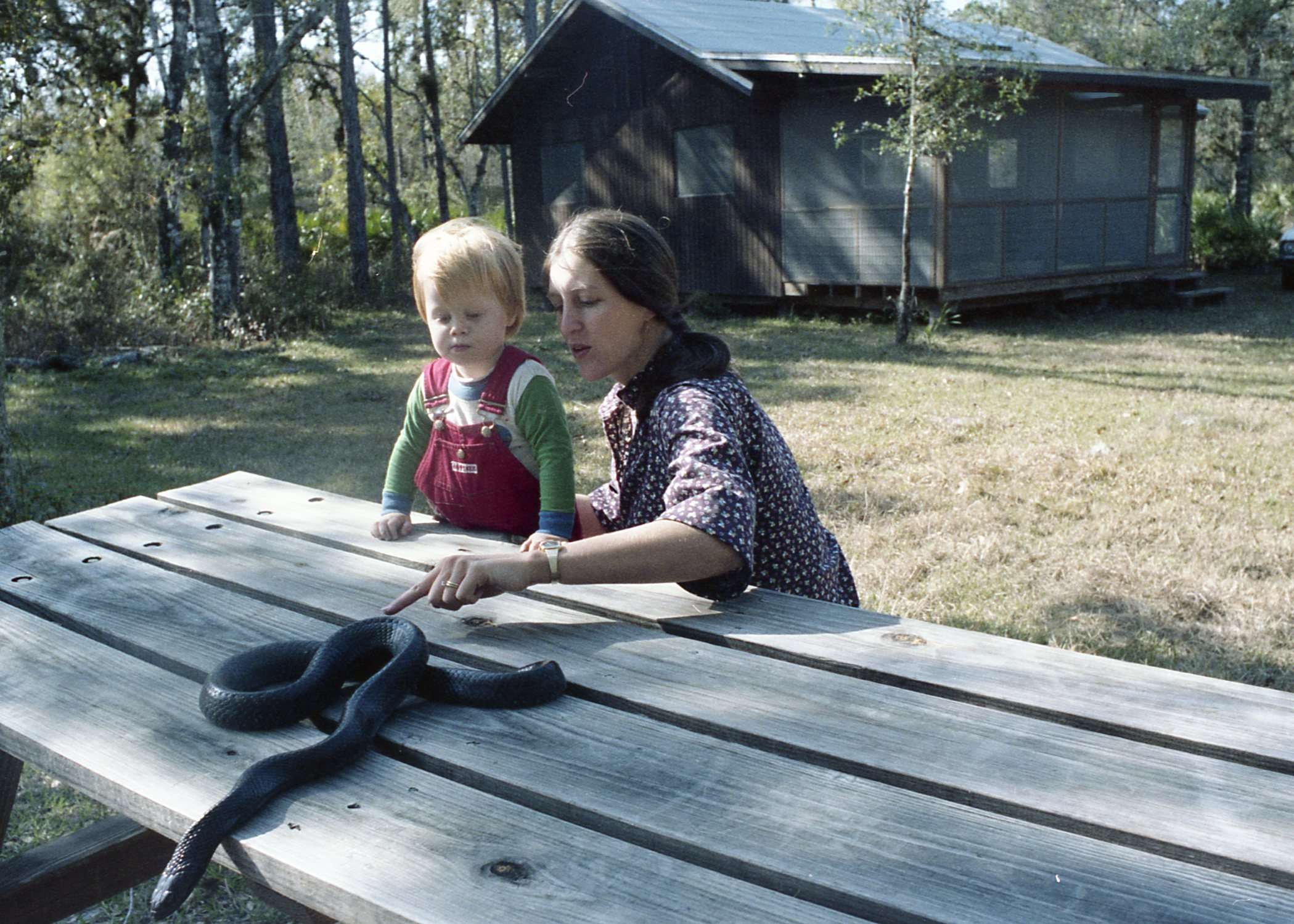 Me, my mom, and an indigo snake. What was she thinking?!
